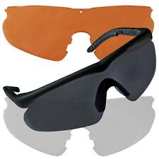 SWISS EYE Raptor green Sportbrille Sonnenbrille mit2 Wechselgläsern orange clear