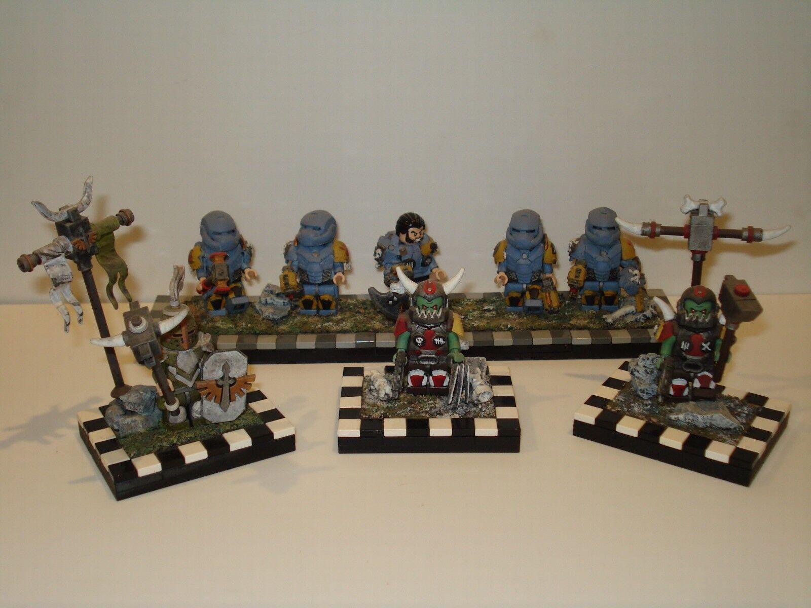 LEGO-WARHAMMER Custom Mini Figure Con Accessori - più variazioni