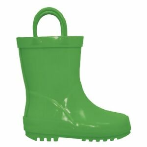 i-play-Rubber-Rainboots-Rain-Mud-Boots-Boys-Girls-Toddler-Unisex-Green-Size-6