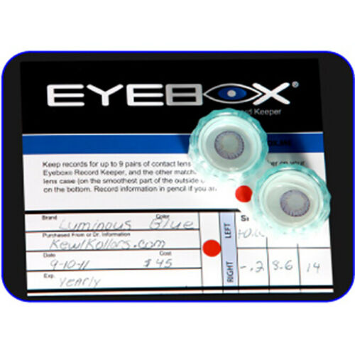Storage and Record Keeper for Contact Lenses Eyebox