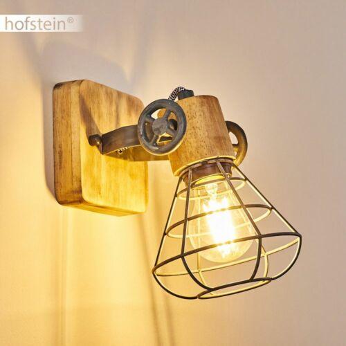 Holz Vintage Wand Leuchten Flur Dielen Strahler Grau Wohn Schlaf Zimmer Lampen