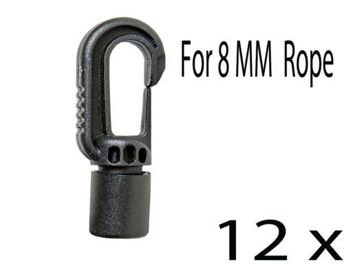 Bungee choc cordon élastique fin ajustement facile pour crochets 8mm cordon corde 2x-24x ou 2 x 5 mm