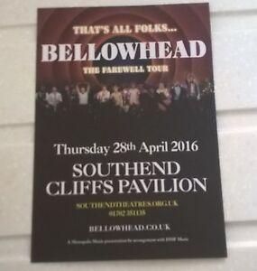 BELLOWHEAD Flyer for gig at Southend Cliffs Pavilion on 28th April 2016 double - Rainham, United Kingdom - BELLOWHEAD Flyer for gig at Southend Cliffs Pavilion on 28th April 2016 double - Rainham, United Kingdom