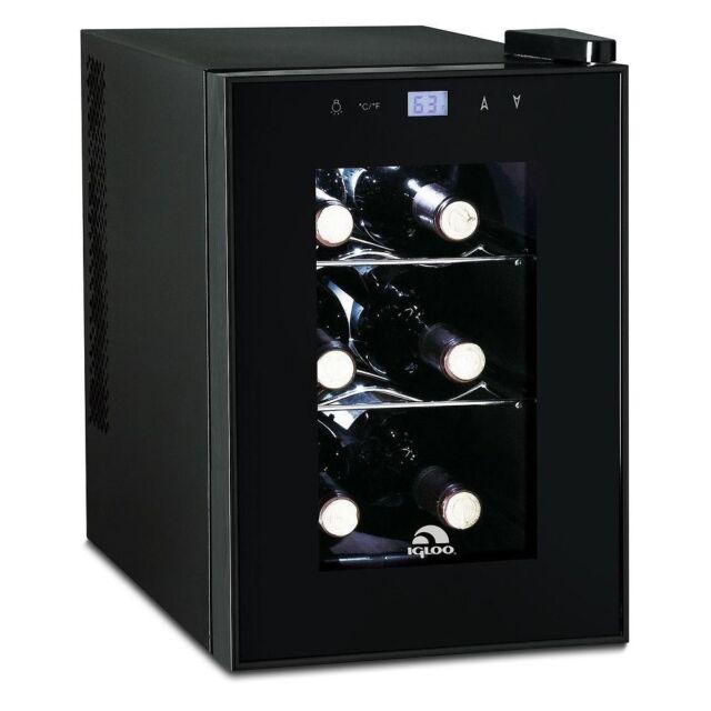 Igloo 6 Bottle Countertop Wine Cooler  Digital Temperature Control  (Refurbished)