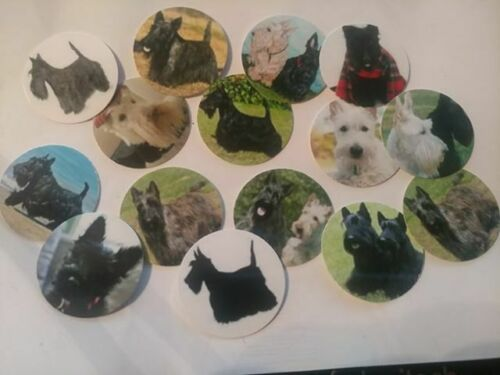 Pre Cut One Inch Bottle Cap Images Scottie Terriers Scottish Dog Free Shipping