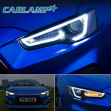 LED Headlights For MITSUBISHI LANCER / EVO X 2008-2017 DUAL BEAM Audi Style
