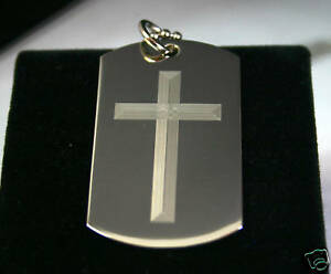 LORD-039-S-PRAYER-OUR-FATHER-AND-CROSS-2S-DOG-TAG-NECKLACE-STAINLESS-STEEL
