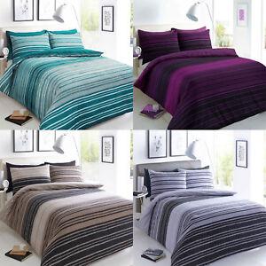 Textura-a-rayas-de-lujo-cubierta-del-edredon-edredon-cubre-conjuntos-de-ropa-de-cama-reversible