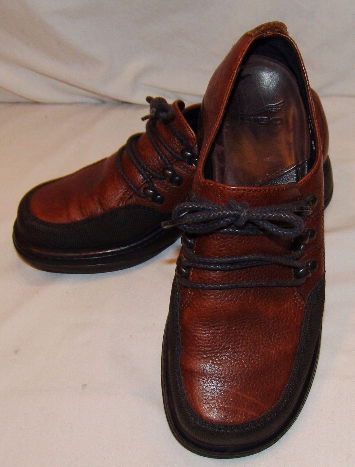 Dansko Zapatos Mujer Mujer Mujer Marrón con Cordones Piel Negra Enfermera Uniforme 37 6.5 7  tienda hace compras y ventas