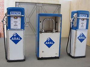 Zapfsaeule-Tanksaeule-ARAL-Gas-Pump-Tankstelle-Diorama-Deko-Modell-Zubehoer-1-18