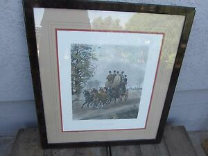 Framed Print Four In Hand By H Alken Limited Edition 238 London Ebay