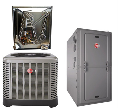 Rheem 4 Ton 16 Seer Central A C Condensing Unit Evaporator And