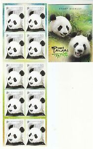 SINGAPORE-2012-GIANT-PANDA-BOOKLET-OF-10-STAMPS-IN-MINT-MNH-UNUSED-CONDITION
