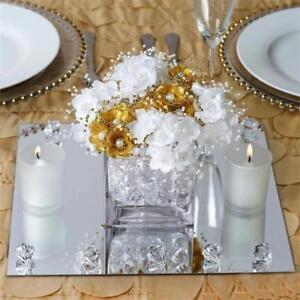 16 pcs 12 square mirrors wedding reception centerpieces wholesale rh ebay com  square mirrors for centerpieces wholesale