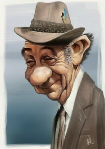 Digital caricature from photo like examples, 1 person Full Color Fathers Day