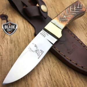 6-034-Bone-Handle-Fixed-Blade-Camping-Hunting-Bowie-Skinner-Knife-Fishing-Outdoor