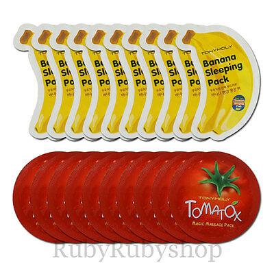 [TONYMOLY] Tomatox Massage Pack and Banana Sleeping Pack Samples 20pcs