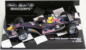 Wow extrêmement rare Red Bull Rb1 Cosworth Ch Klien Australie 2005 1:43 Minichamps 4012138070820