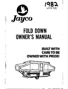 1982 jayco jay flight featherlite popup trailer owners manual ebay rh ebay com jayco instruction manual jayco operating manual