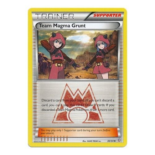 POKEMON XY DOUBLE CRISIS 30//34 Team Magma Grunt