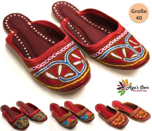 Indische Schuhe Damen Indoor /& Outdoor Schuhe ECHT LEDER Indien Gr 40