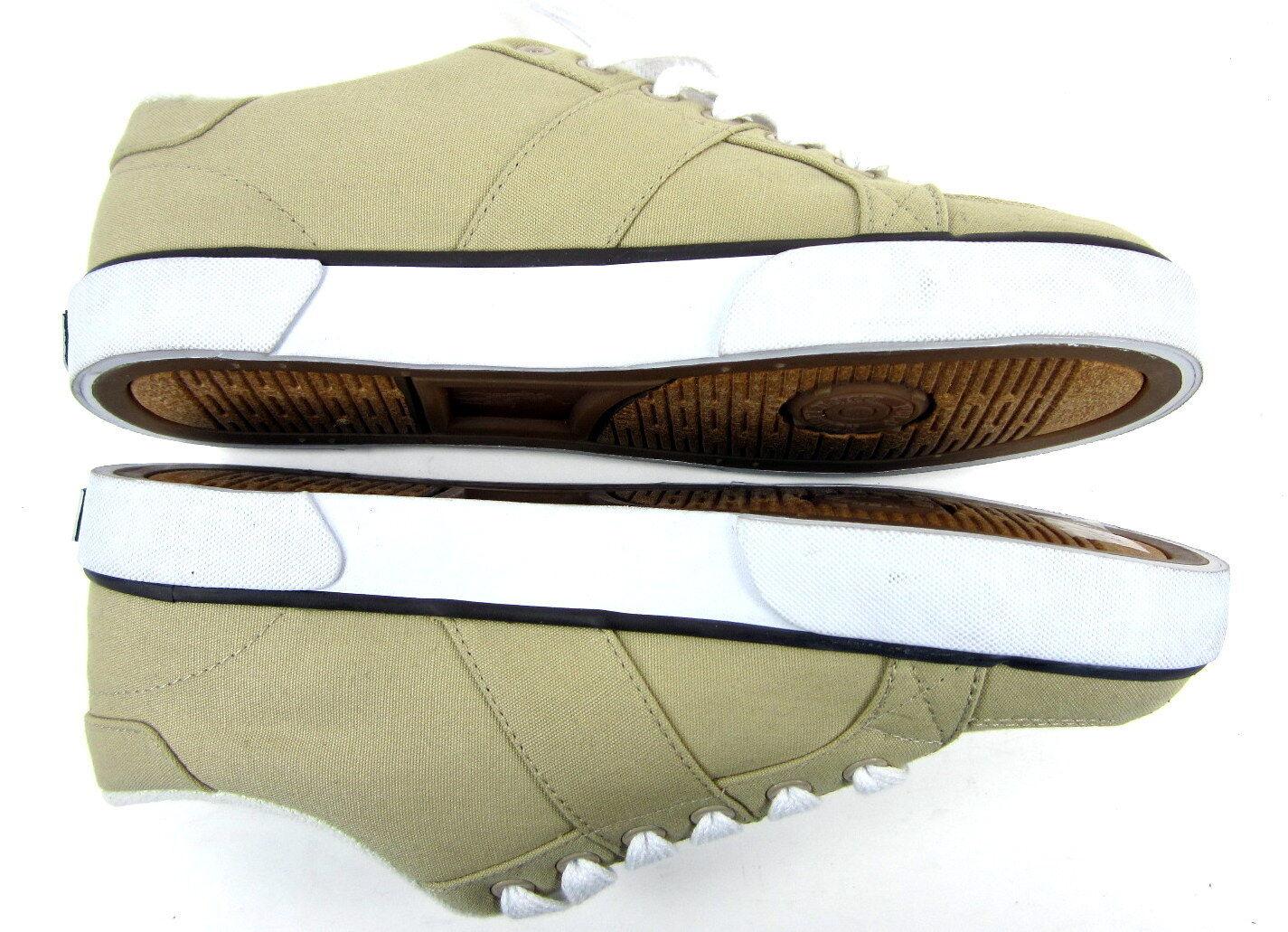 Polo ralph lauren scarpe harold atletico tela tela tela cachi / brown scarpe taglia 7,5 de0831