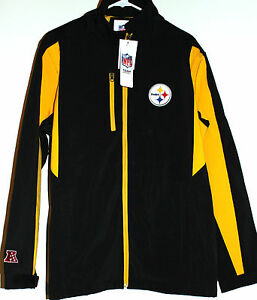 timeless design 2d8e9 15640 Details about Pittsburgh Steelers Jacket Men's LG Softshell Coat NFL Team  Apparel Embroidered