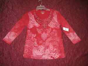 Women's Red top by Hannah New with tags S & M