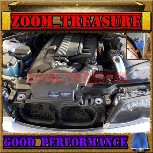 BLACK BLUE 1996-2000//96-00 BMW 528i i E39 2.8 2.8L COLD AIR INTAKE KIT