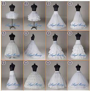 12-Styles-White-A-Line-Hoop-Hoopless-Short-Crinoline-Petticoat-Slips-Underskirt