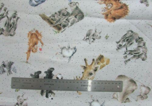 Love Is tissu Wrendale Designs Animal Décoratif 100/% coton mètre PIECES