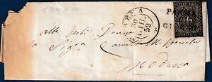 1852-Lettera-da-Parma-a-Modena-resa-franca-con-15-cent-rosa-n-3