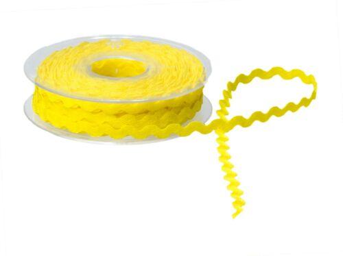 6mm RIC RAC Ribbon//Braid//Trimming RICRAC 20 Metre Reel Choice of Colours