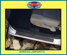 BLACK PLASTIC DOOR ENTRY SILL GUARDS 07 - 2016 JK 2 DOOR JEEP WRANGLER MOPAR OEM