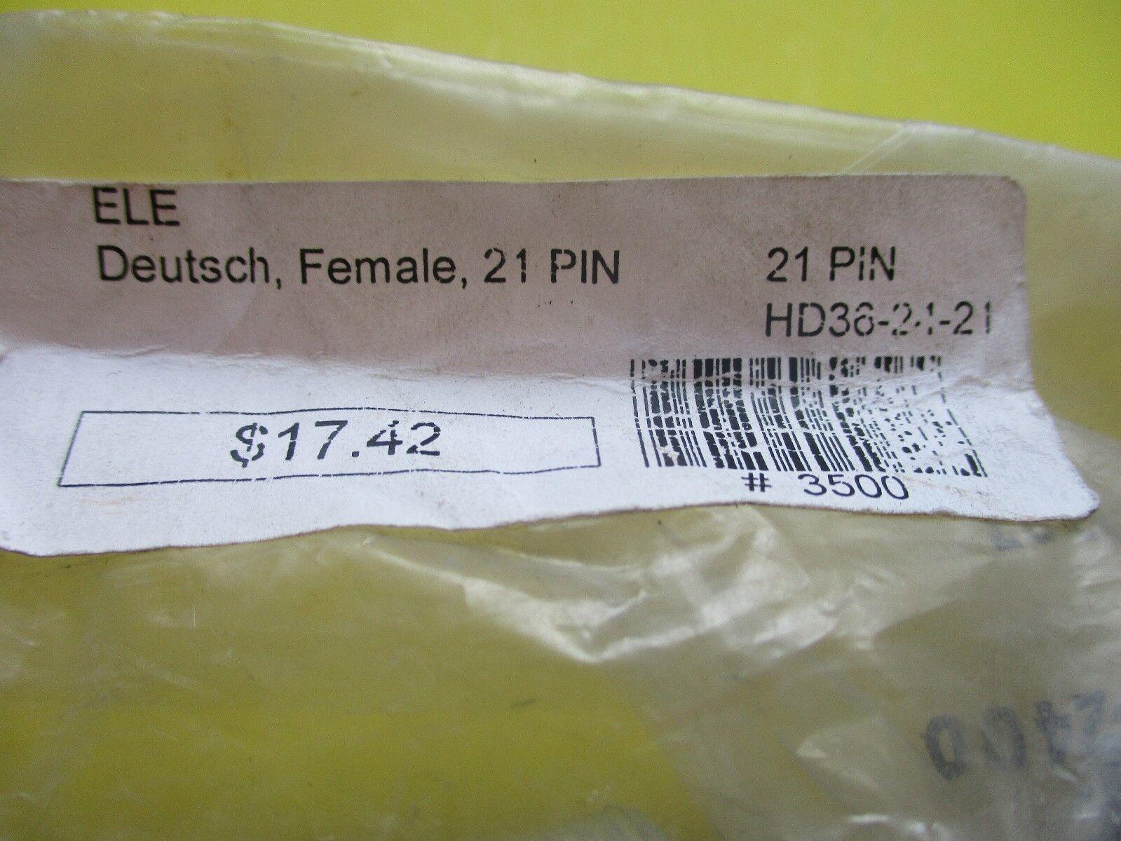 21 Pin Cummins 3824824 Shell 24 HD36-24-21SN DEUTSCH HD30 Series Connector