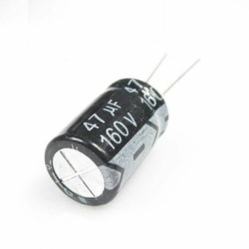 20PCS 160V 47uF 160Volt 47MFD 105C aluminum Electrolytic Capacitor 10×20mm