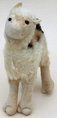 #1317.00 Steiff Llama Originale Con Pulsante Rialzato Silverscript- Forte Imballaggio