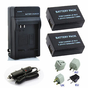 Stromquelle Batterie Lp-e17 Lpe17 Lp E17 Kamera Batterie Für Canon Eos M3 M5 M6 750d 760d T6i T6s 800d 8000d Kuss X8i Batterien