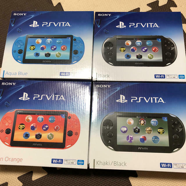 New Sony Playstation PS Vita PCH-2000 Black, Blue, Red,Silver,White,Other  colors