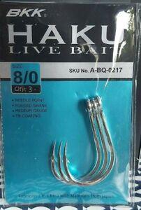 Haku Live Bait Hooks Size 5//0 BKK