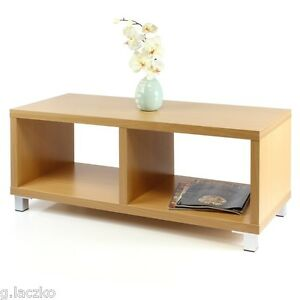 Coffee Table Tv Stand Dual Function Wood Open Storage Home