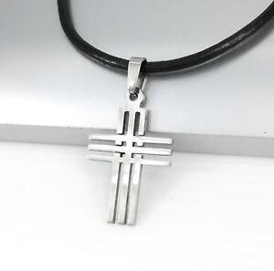 collier argent croix femme