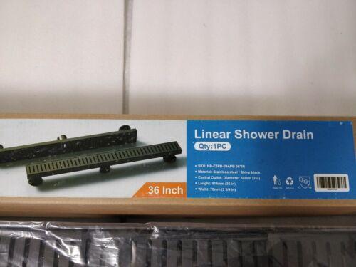 WEBANG 36 Inch Rectangular Linear Shower Floor Drain