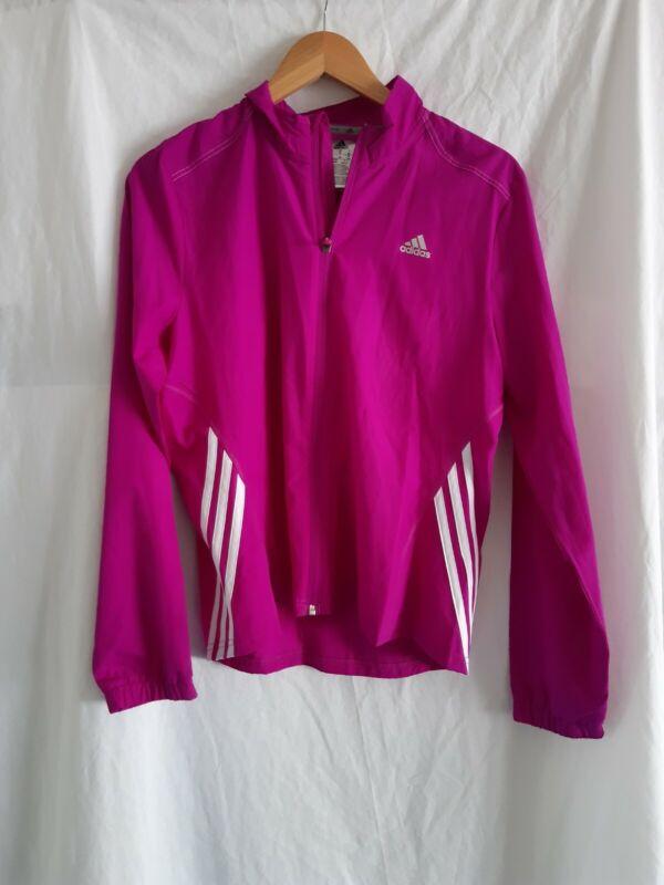 Trustful New Adidas Running Pink Jacket Size 14