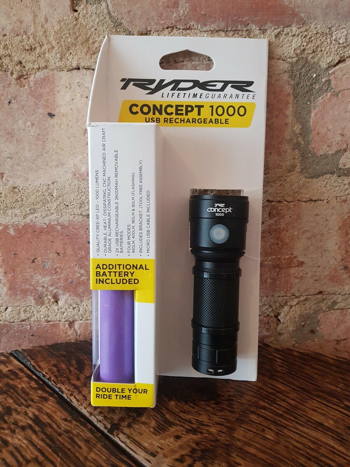 Ryder 1000 CICLO ANTERIORE Concept luce con batteria di ricambioNuovo di zecca.