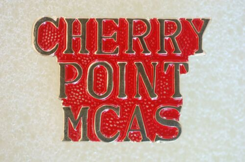US USA USMC Marine Corps Cherry Point MCAS Military Hat Lapel Pin
