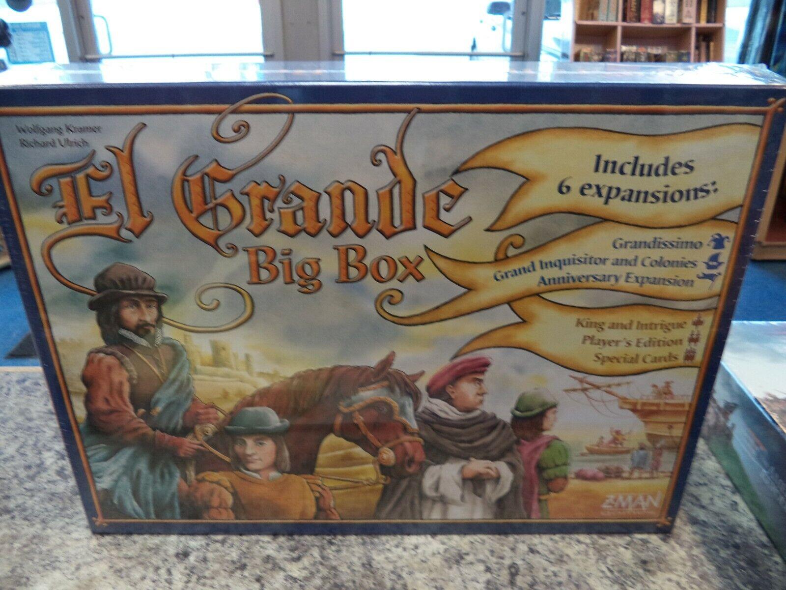 El Grande Big Box - Z-Man Games Board Game New