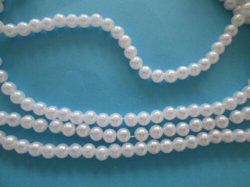 500 Elegante Wachsperlen 5mm  weiß Perlen Tischdeko rund Dekoperlen