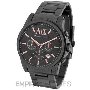 a551437436b6 nuevo   Para hombres Reloj de oro rosa bancos de intercambio ARMANI ...