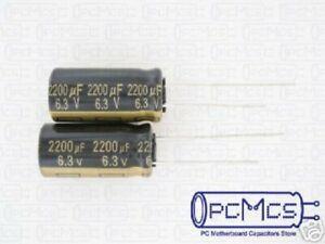 10 pcs PANASONIC Low ESR Kondensator EEUFC0J152  1500uF 6,3V 10x20 RM5  52mR #BP